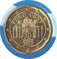 ** 20 CENT AUTRICHE 2002 PIECE NEUVE ** - Autriche