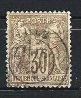 """YT 69 """" Sage Type I 30c. Brun """" 1876 CAD Province Lille - 1876-1878 Sage (Type I)"""