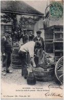 Auxerre Yonne Vendanges Pressoir Gros Plan Grosse Animation 1904 TOP +++ TB état - Auxerre