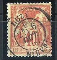 """YT 70 """" Sage Type I 40c. Rouge-orange """" 1878 CAD Province LUZY - 1876-1878 Sage (Type I)"""