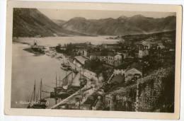 CPA   MONTENEGRO    KOTOR   KATTARO    VUE AERIENNE   VILLE  PORT   BATEAUX - Montenegro