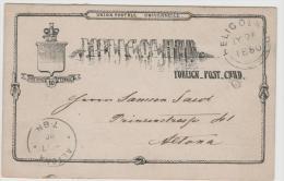 Hel013 / Helgoland Ganzsache 1880 Nach Altona