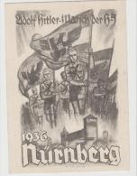 III-Pro140/DRITTES REICH -  SELTEN , Propagandakarte  Parteitag 1936, Marschierende Hitler-Jugend. Sehr SELTENE Karte - Briefe U. Dokumente