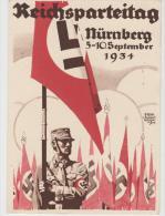 III-Pro141/ Propagandakarte   SA-Aufmarsch, Parteitag 1934. Stempel Passend. - Deutschland