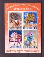 TOGO 1969 ALUNISSAGE  APOLLO 11 ORANGE  YVERT N°B39 NEUF MNH** - Space