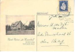 1948 Geïllustreerde Bk Van ALMEN (Gld) Naar Den Haag (vouw) - Brieven En Documenten