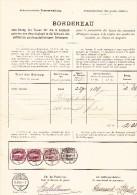 Heimat NE Brenets 21.10.1898 Mit Senkr. Paar 1Fr Stehende Mit 5 U 3Rp Ziffer Auf  Postverwaltung Bordereau - Lettres & Documents