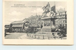 ELBERFELD - Schwebebahn Döppersberg U. Kaiser Willem - Denkmal. - Wuppertal