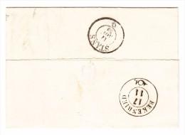 Heimat NW Beckenried + Stanz 17.11.1859 Transit Und AK-Stempel Auf Brief Aus Luzern - 1854-1862 Helvetia (Non-dentelés)