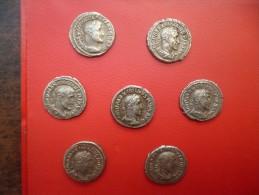 "EMPIRE ROMAIN MAXIMINUS (235-238 AP.J-C) PETIT ""TRESOR"" DE 7 DENIERS D'ARGENT TRES BELLE QUALITE !!!"