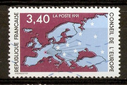 1991 - Conseil De L'Europe - Carte D'Europe - Service N°107 - Gebraucht