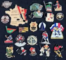 Hockey - Beau Lot De 23 Pin´s  - Tous Différents (dont 3 émaillés, 1argenté, 2 Double Fixation) - Hockey - NHL