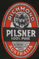 Richmond Pilsner, Melbourne Australia, Beer Label From 60`s. - Beer