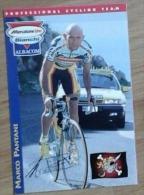Cyclisme - Carte Postale Marco PANTANI équipe Mercatone Uno 2000 Avec Signature - Cycling