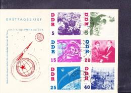 DDR: Satz-Brief kpl. vom Besuch German Titow in der DDR auf Ersttagsbrief OSt. BAUTZEN 2 vom 16.3.62  Knr: 863/8