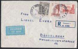 HA190     Jougoslavia 1960  Lettera Raccomandata  Sarajevo  Per Dusseldorf - Unclassified