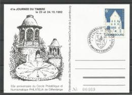 ENVELOPPE COMMEMORATIVE 41e JOURNEE DU TIMBRE DIFFERDANGE TP N° 1058 (CACHET POSTAL DE DIFFERDANGE) (SCAN VERSO) - Cartes Commémoratives