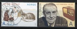 Norway 2014 Set - Alf Prøysen Centenary Mi 1858-59 - Used Stamps