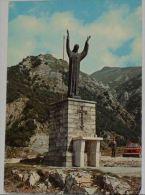 RIETI - Capricchia - Monumento Al Sacro Cuore Di Gesù Con Sfondo La Cima Gorzano - Auto - Rieti