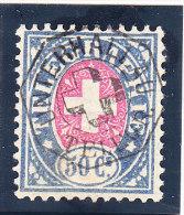 Heimat SH Unterhallau Vollstempel Auf 50Cts. Telegrafen Marke #16 - Télégraphe