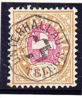 Heimat SH Unterhallau Auf  3Fr. Telegrafen Marke 1881 #18 - Télégraphe