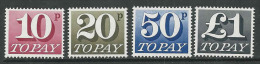 GB, Mi 76-79 Jaar 1970,  Postfris (MNH**)   Cote 9,00 Euro à 17 %, Zie Scan - Taxes