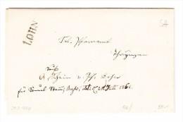 Heimat SH Lohn Balkenstempel Auf Brief 1864 Mit AK-Stempel 20.07 Thayngen - 1862-1881 Sitzende Helvetia (gezähnt)