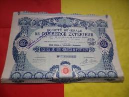 GENERALE DE COMMERCE EXTERIEUR (capital 4,5 Millions Porté A 10 Millions) MADAGASCAR - Actions & Titres