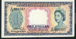 MALAYA  & BRITISH BORNEO  P1  1  DOLLAR  1953      XF   No Problem ! ! - Billets