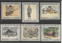 Vietnam Du Nord-Poste 1969-YT N°s 635 à 640 (6val.)-OBL. - Vietnam