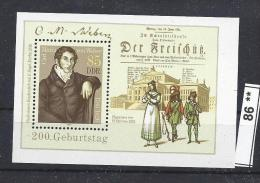 86** ##  DDR,  Siehe Scan, Denn Bilder Sagen Mehr Als Eine Beschreibung ** / Mint  Bl 86, Mi = 1,6 € - DDR