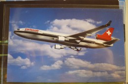 AIRLINES ISSUE / CARTE COMPAGNIE        SWISSAIR   MD 11 - 1946-....: Moderne