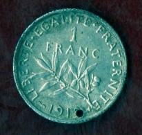 1 Franc SEMEUSE 1909 (LOT AB9) - H. 1 Franc