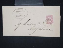 ITALIE - Lettre ( Avec Texte De La Prefecture ) De Catania En 1876 - A Voir - Lot P12424 - 1861-78 Victor Emmanuel II.