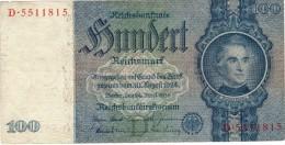 100 Reichmark (1935) - [ 4] 1933-1945 : Troisième Reich