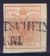 Austria: Mi Nr 3 Y A Kartonpapier 0.14 Mm  Gebraucht/used/obl. - Gebraucht