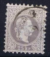 Austria: Mi Nr 40 II B Grauviolett   Gebraucht/used/obl. 1867 - 1850-1918 Impero