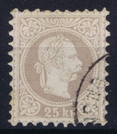Austria: Mi Nr 40 II A  Lilagrau   Gebraucht/used/obl. 1867 - 1850-1918 Imperium