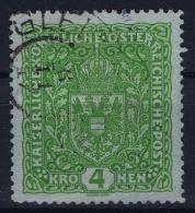 Austria: Mi Nr 206 II Gebraucht/used/obl.   1917   26 X 29 Mm - Gebraucht