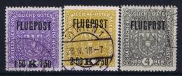 Austria: Mi Nr 225 Y II   - 227 Y II Gebraucht/used/obl.   1918   26 * 29 Mm - Airmail