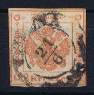 Austria Lombardei Venetien Mi Nr 2 Zeitungs Steuer Mark Gestempelt/used/obl.  Venetien Stempel - Gebraucht