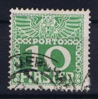 Austria Levante  Porto Mi Nr 12 Y Dunnes Papier  0.1 Mm Gestempelt/used/obl.   Jerusalem Cancel - Levante-Marken