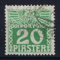 Austria Levante  Porto Mi Nr 13 Ya Dunnes Papier  0.1 Mm Gestempelt/used/obl. - Eastern Austria