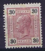 Austria Mi nr 113 c MH/* Falz. 1904   K 13: 13.50
