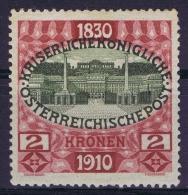 Austria Mi nr 175 MH/* Falz. 1910  2x Signed/ sign�/signiert