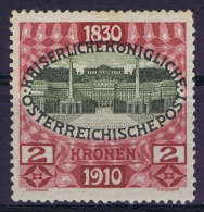 Austria Mi Nr 175 MH/* Falz. 1910  2x Signed/ Signé/signiert - Ungebraucht