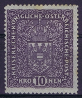 Austria Mi nr 207 I    MH/* Falz.   Signed/ sign�/signiert has a  thin spot