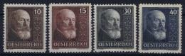 Austria Mi nr 494 - 497    MNH/** sans Charni�re  Postfrisch   1924