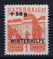 Austria Mi nr 566 MH/* Falz. 1933 Winterhilfe