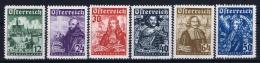 Austria Mi nr  557 - 562 MH/* Falz.  1933